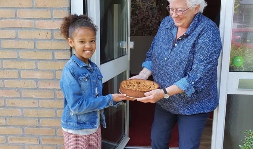 Veel baksels werden zelf afgeleverd door de jeugd