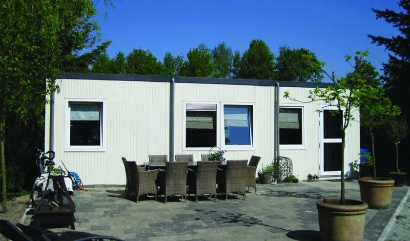 De containerwoningen zijn geschikt voor tijdelijke bewoning.