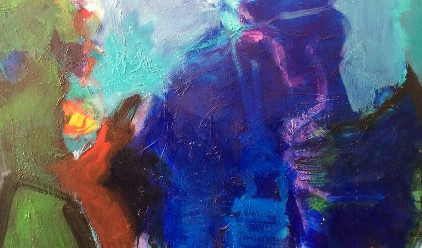 Abstract werk van Alex Schellenberg geïnspireerd door Gustav Mahler.