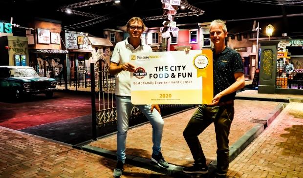 Richard Bultink (The City) en Hans van Leeuwen (Pleisureworld). Foto: (PR)
