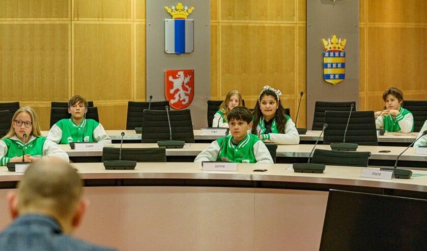 <p>De Kindergemeenteraad kwam in de raadzaal bijeen.&nbsp;</p>