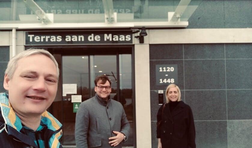 <p>De VVD bracht kaarten langs bij de nieuwe bewoners.</p>