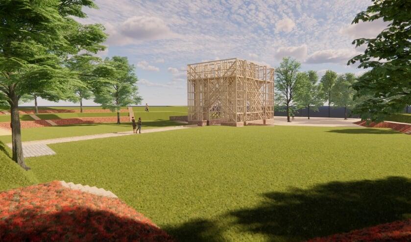 <p>&nbsp;IBGB, VVD en PvdA vinden de houten verbeelding een iconisch monument, de belangrijke historische plek waardig </p>