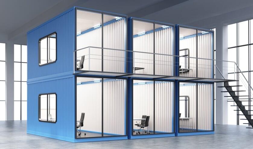 Met containers is de Tec Factory flexibel in te richten. (Foto: PR)