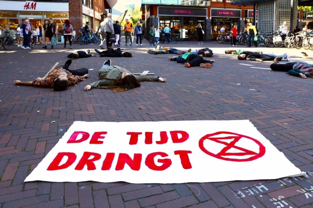 Extinction Rebellion, een wereldwijde beweging voor klimaatrechtvaardigheid. Aandacht te trekken voor de klimaatcrisis. Foto: KOOS BOMMELE © RODI Media-zh