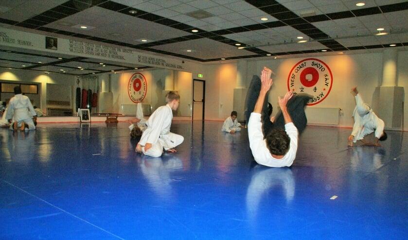 <p>Docent Ivo van der Lans demonstreert tijdens de kinderles &eacute;&eacute;n van de<br>Aikido-technieken. (foto: ML)</p>