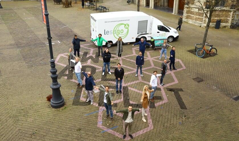 <p>&#39;Samen dragen wij saamhorigheid en trots uit, naar de Delftenaren toe&#39; (Foto: Koos Bommel&eacute;)</p>