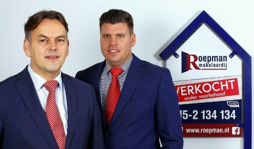 <p>Ronald Roepman en Martijn Sinnema van Roepman Makelaardij.</p>