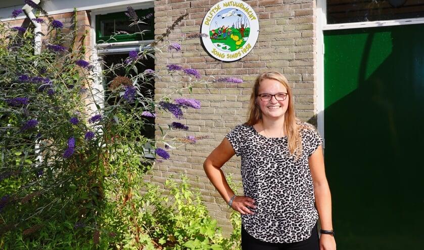 Esmee komt al sinds haar achtste bij de Delftse Natuurwacht (Foto: Koos Bommelé)