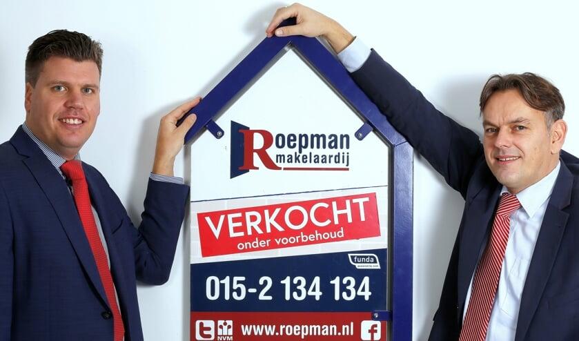 <p>Martijn Sinnema en Ronald Roepman van Roepman Makelaardij.</p>
