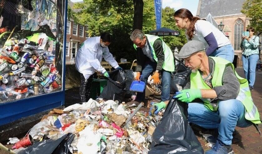 De opbrengst van een eerdere Canal Cleanup, in 2020 (Foto: Koos Bommelé)
