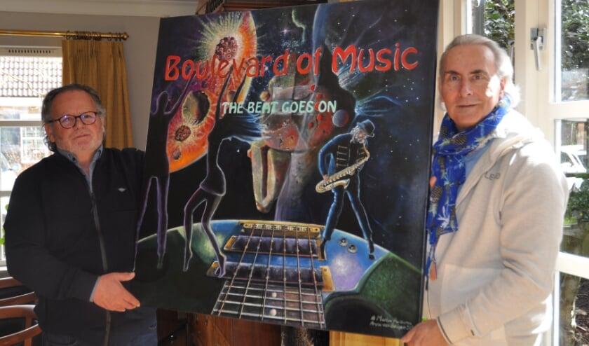 <p>Het schilderij Boulevard of Music gemaakt door Aryan van Beugen. (Foto: Els de Wit)</p>