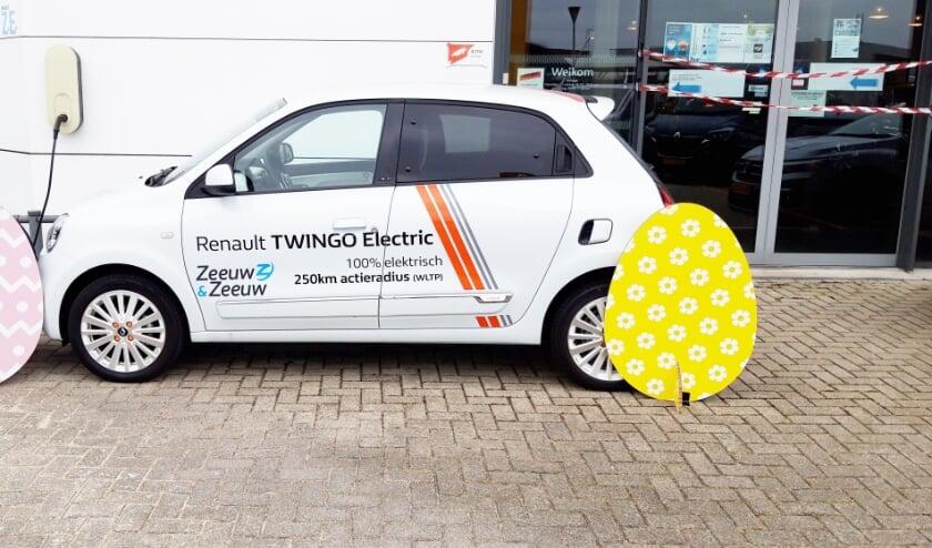 <p>Ook voor de Renault Twingo Electric loopt een mooie paasactie</p>