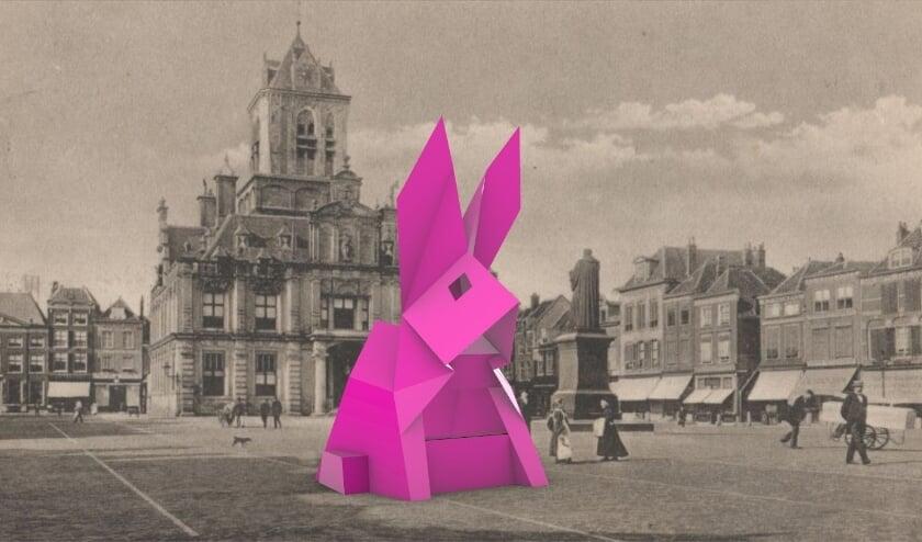 <p>Het konijn komt voort uit een samenwerking tussen TU Delft en Delft Fringe Festival</p>