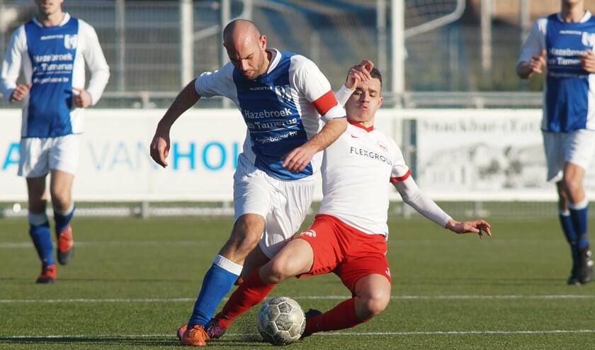 Daniël van den Hoven is een speler van Linschoten de baas. (foto: Stef Hoogendijk)