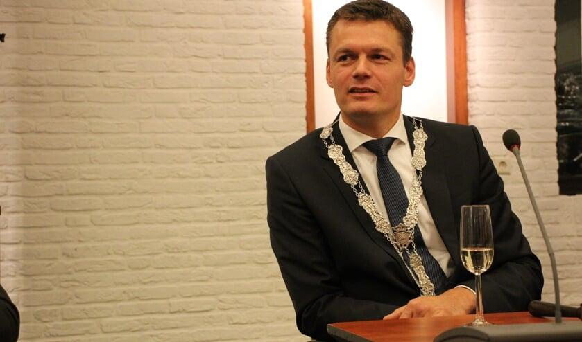 Burgemeester Evert Jan Nieuwenhuis.