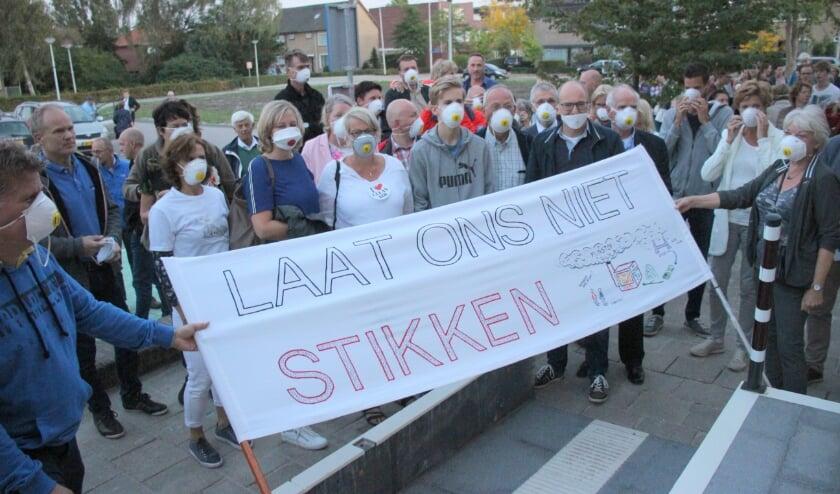 <p>Bewoners voerden actie tegen de biomassacentrales.</p>