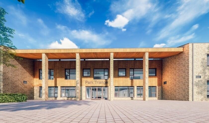 <p>Het kindcentrum dat een paar maanden geleden in gebruik is genomen.</p>