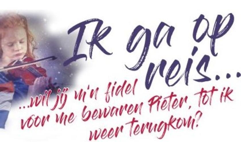 De flyer van de voorstelling 'Ik ga op reis...'