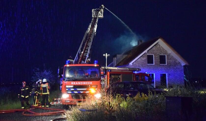 Brand bij een woning aan de Henegouwernesse.