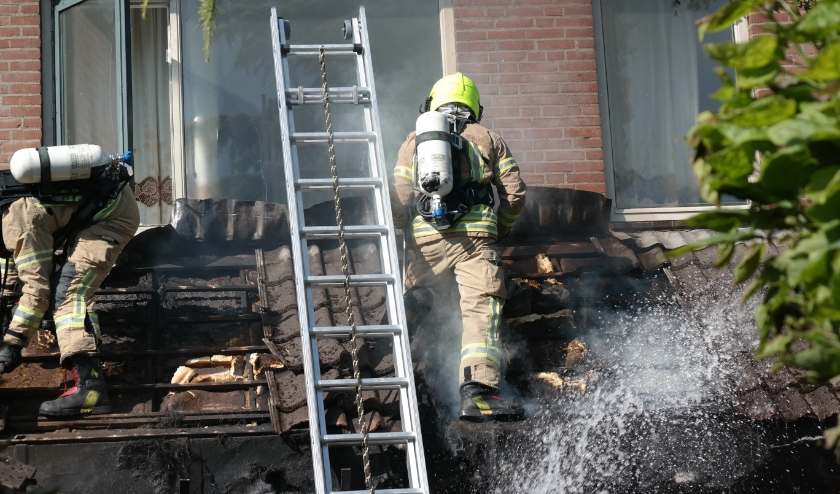In de hoekwoning aan de Schijfmos heeft brand gewoed.