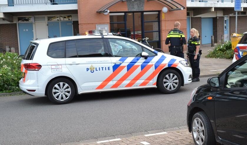 De politie rukte uit voor een vechtpartij aan de Wingerd.