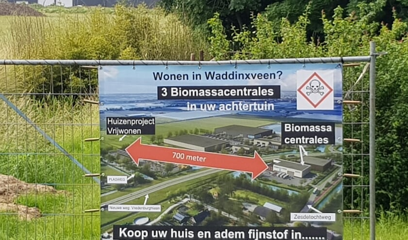 <p>In 2019 hing dit protestbord in Waddinxveen.&nbsp;</p>