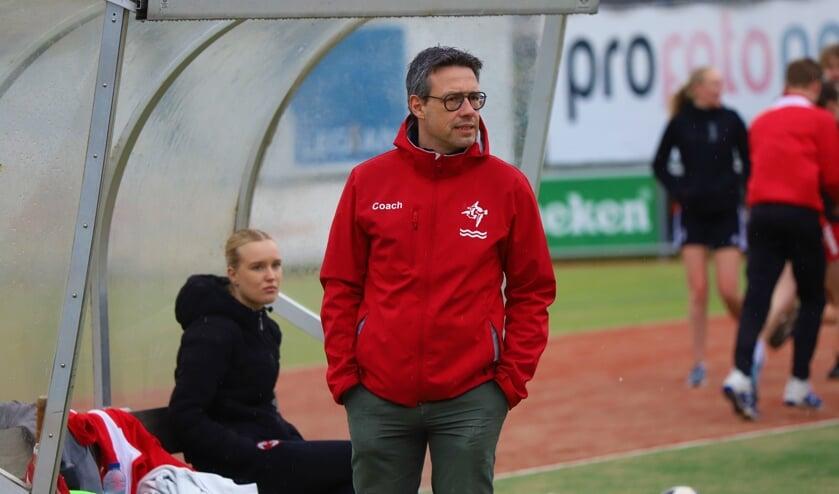 Mark van den Brink bij één van de onderlinge oefenwedstrijden van IJsselvogels.