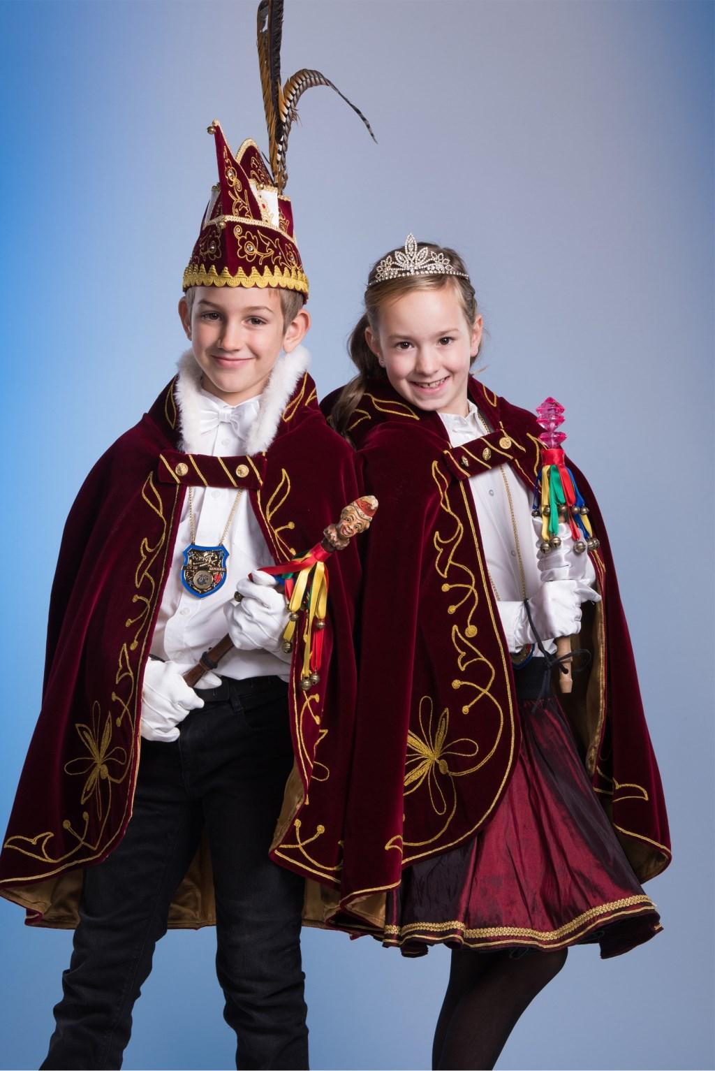 Jeugdprins Coen en Jeugdprinses Imke  © Kliknieuws Oss