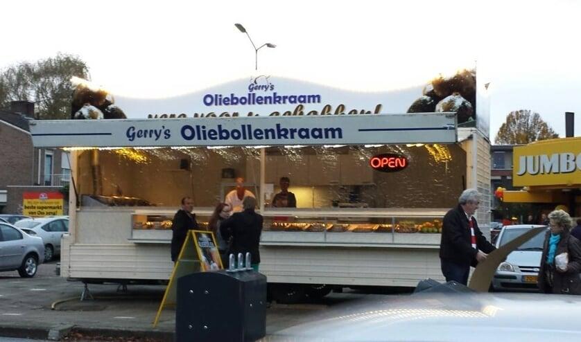 Gerry's oliebollenkraam aan de Vierhoeksingel in Oss.