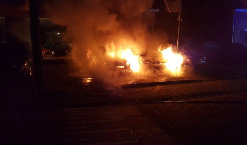 Brand in de Katwijkstraat. (Foto: Twitter wijkagent Ruwaard)