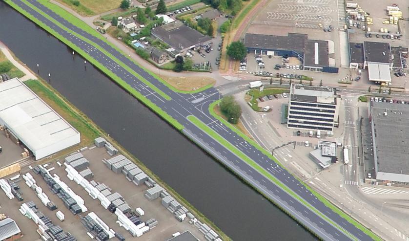 Visual van aansluiting N279 met NCB-laan Veghel.