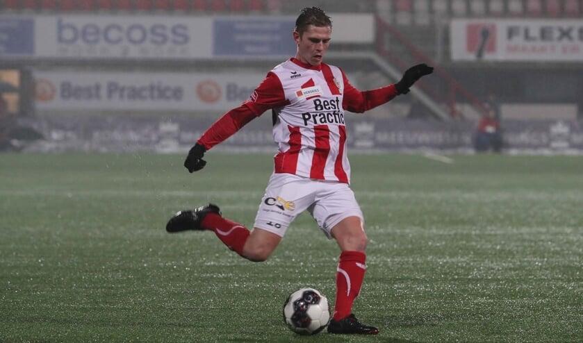 <p>Dennis Janssen als speler van TOP.</p>