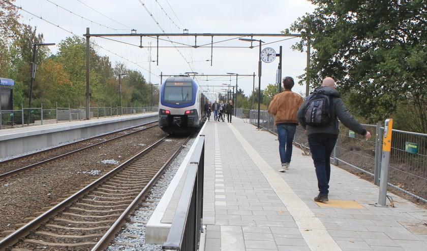 Het treinstation van Ravenstein. (Foto: Hans van der Poel)