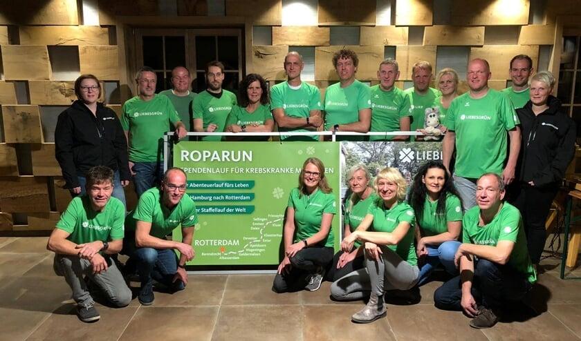 Liebesgrün Runningsteam bestaat onder meer uit de Bergse hardlopers Frank Janssen, Henk Stolk, Erik Lukassen en Jan-Willem Lely.