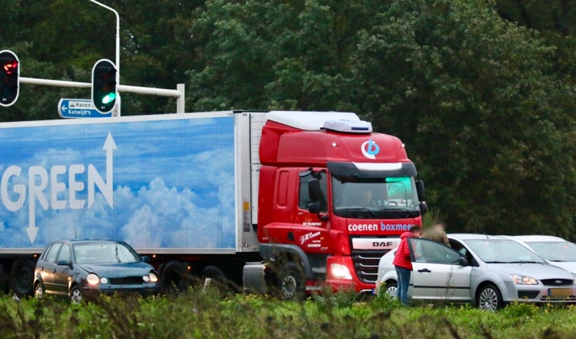 Ongeval op de N321 bij Cuijk.