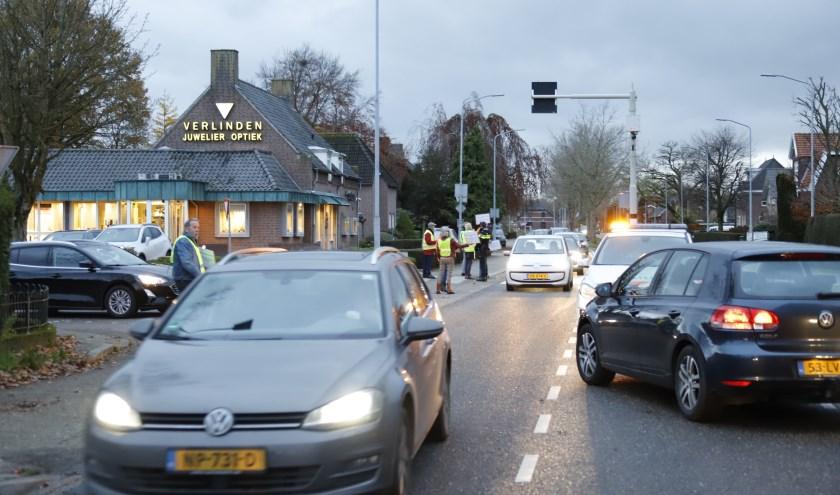 Verkeersoverlast op de N264 door demonstratie.