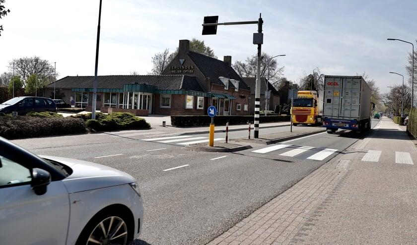 De N264 doorkruist Sint Hubert.