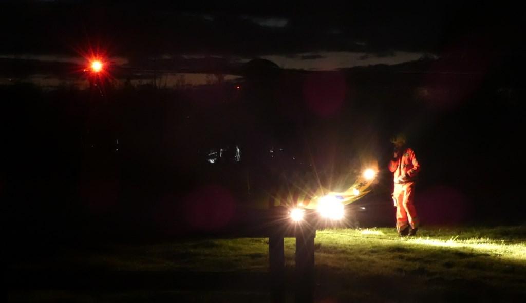 Jager gewond bij jachtongeval in Macharen. (Foto: Thomas)  © 112 Brabantnieuws