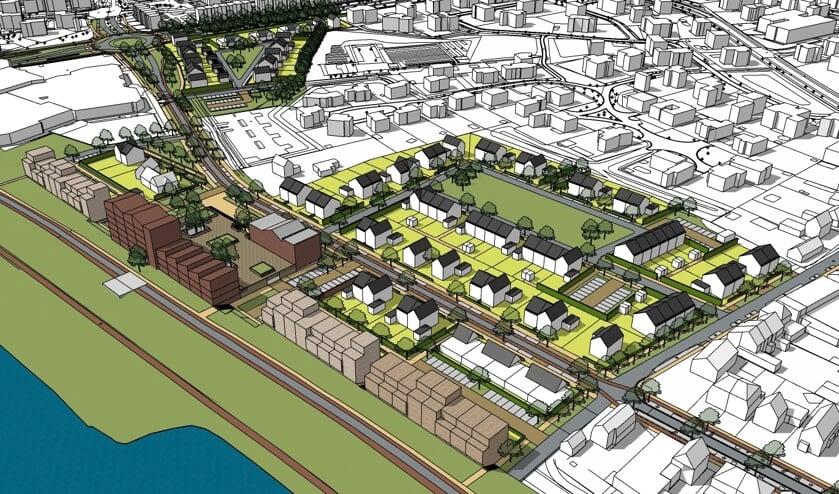 Op het terrein van Nutricia en Merletcollege aan de Grotestraat-Zuid in Cuijk moeten in de toekomst zo'n 150 woningen en appartementen verrijzen.
