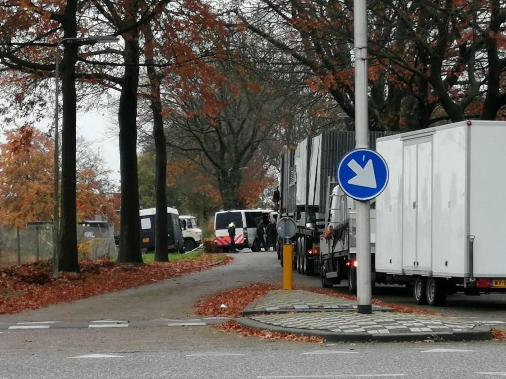 Politiemacht in de Hoogheuvelstraat.  © 112 Brabantnieuws