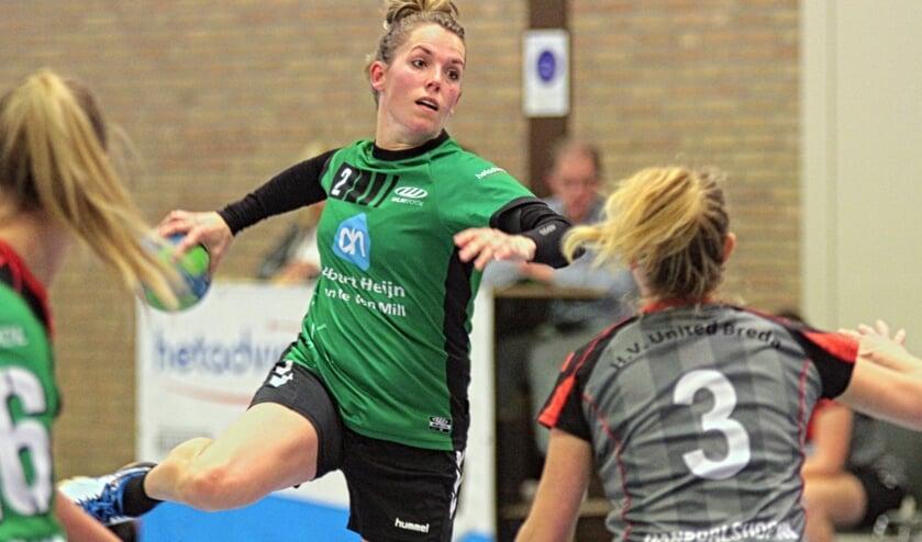De handbalsters van MHV'81 staan op een keurige tweede plaats in de Tweede Divisie.