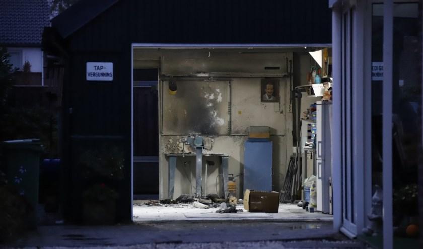 Brand in schuurtje in Cuijk, bewoner kan schade beperken.