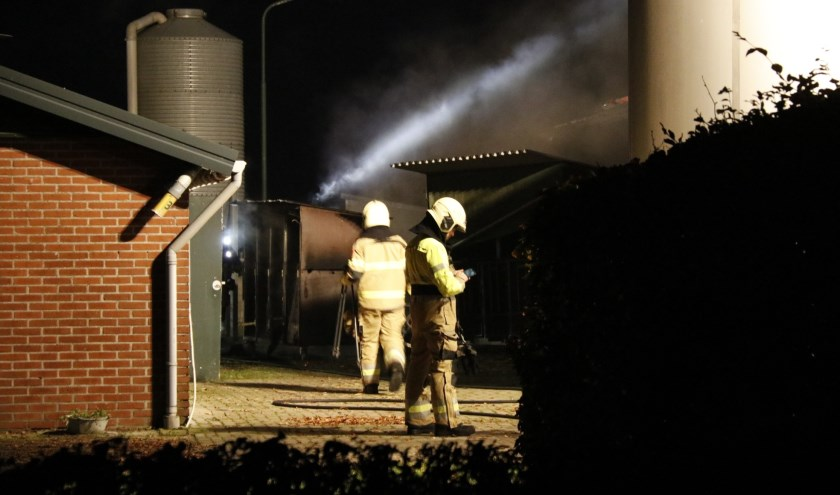 Stalbrand in Oploo, geen dieren gewond.