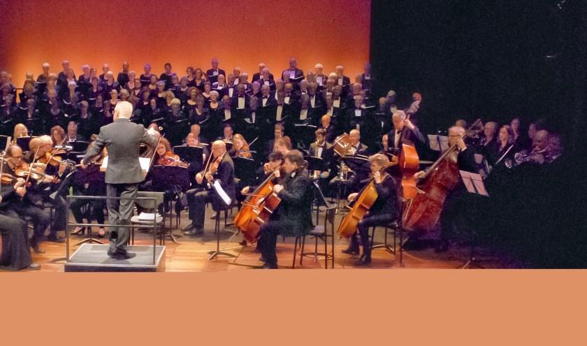 Een deel van de muzikanten op het podium.