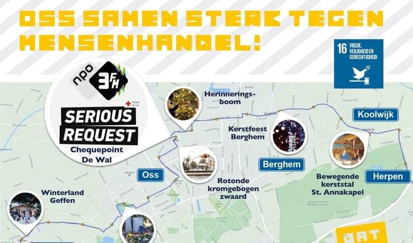 Route 3FM Serious Request door gemeente Oss bekend