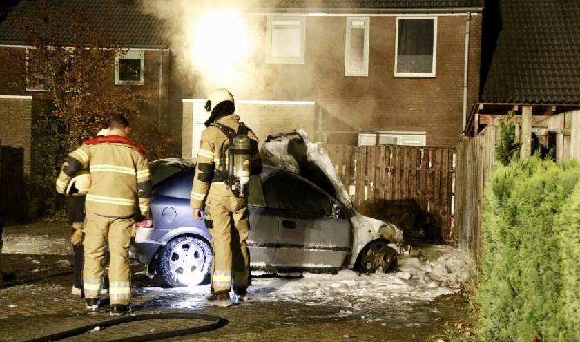Auto brandt uit in Sint Anthonis.