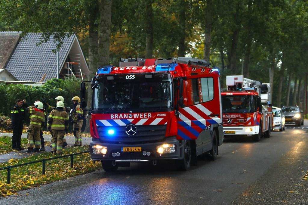 Schoorsteenbrand bij restaurant Montimar in Oss. (Foto: Gabor Heeres / Foto Mallo)  © 112 Brabantnieuws