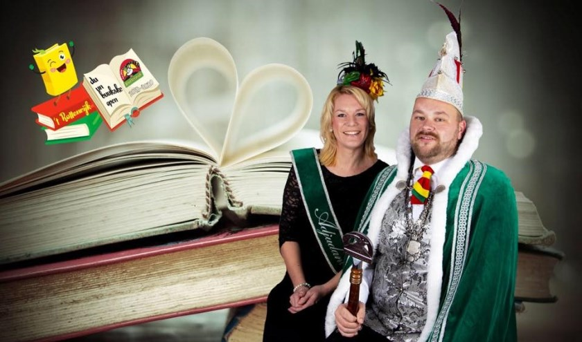 Prins John d'n Urste in Rottenrijk en Adjudant Esther. (Foto: Facebook Rottenrijk)