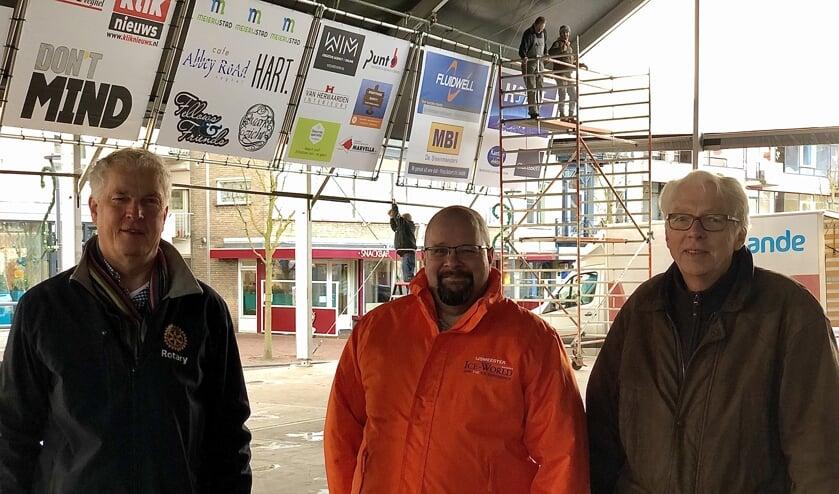 Domien Brus (Rotary Club Meierijstad), Wim Holland (IJsmeester) en Ton Janssen (Rotary Club Meierijstad).